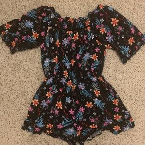 Like New Cotton On Off Shoulder Floral Romper
